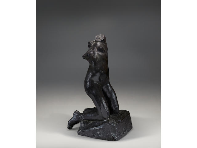 AUGUSTE RODIN (1840-1917) Nu féminin agenouillé en torsion 23 1/2 in (59.7 cm) (height) (Conceived between 1882 and 1885, and cast by the Musée Rodin at the Emile Godard foundry in an edition of 10 between 1983 and 1985, the present bronze cast in December 1984-January 1985.)