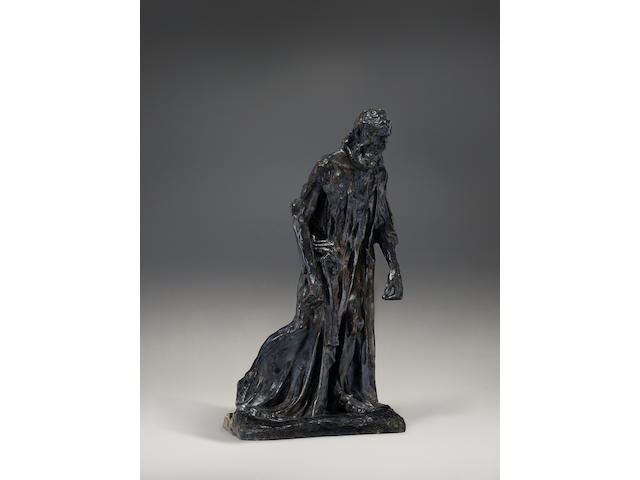 Auguste Rodin (1840-1917) L'un des Bourgeois de Calais: Eustache de Saint-Pierre, vêtu, réduction 18 3/4 in (47.7 cm) (height) (Conceived between 1887 and 1895, and in this reduced size in 1902-03. This version was cast by the Alexis Rudier foundry in June 1945.)