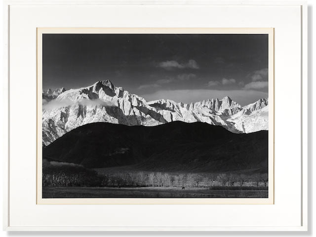 Ansel Adams (1902-1984); Winter Sunrise, Sierra Nevada from Lone Pine, California;