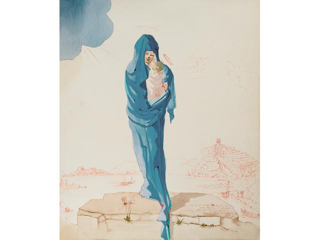 Salvador Dalí (1904-1989) Le Jour de la Vierge 24 x 18 7/8 in (60.9 x 48.1 cm)  (Painted in September 1947)