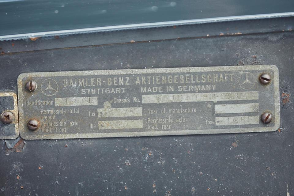 Bonhams : 1961 Mercedes-Benz 190SL Chassis no  121040-10