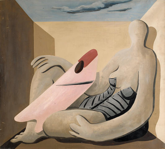 Charles Howard (American, 1899-1978) Reclining figure  30 x 33in