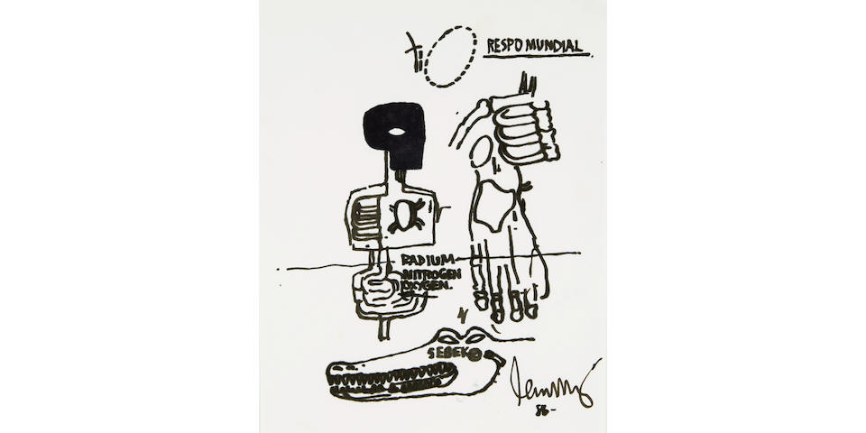 JEAN-MICHEL BASQUIAT (1960-1988) Untitled, 1986