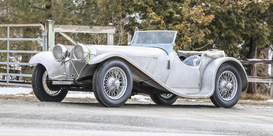 From the Estate of Geoffrey Howard, one of only 24 built, ultra rare SS100 predecessor,1935 SS90 Roadster  Chassis no. 249485 Engine no. 252444