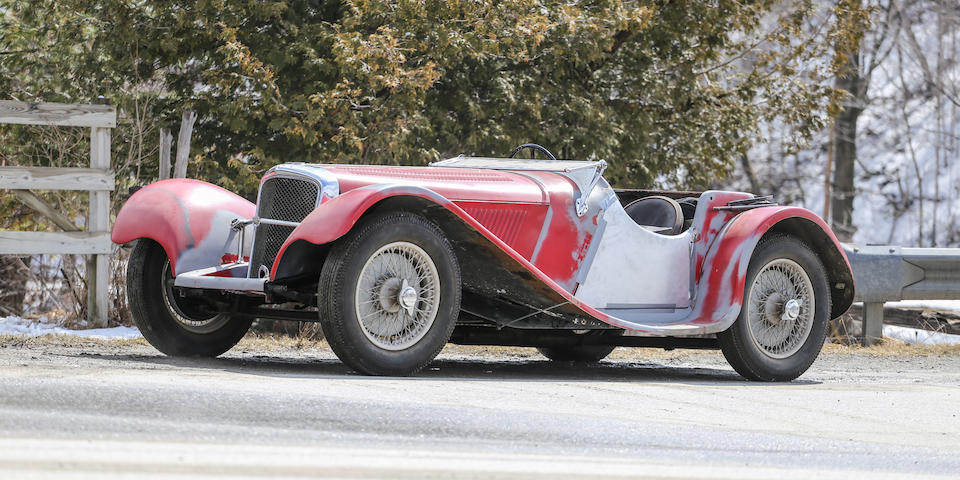 From the Estate of Geoffrey Howard,1938 Jaguar SS100 2½ Liter Roadster  Chassis no. 49049 Engine no. T9528