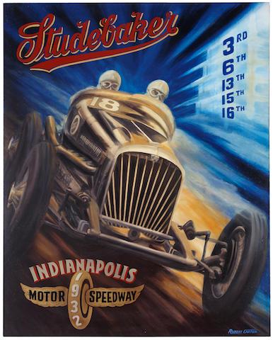 Robert Carter: Studebaker at Indy, 48 x 60 ins.