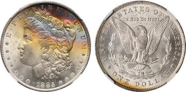 1885-O $1 MS65 Star NGC
