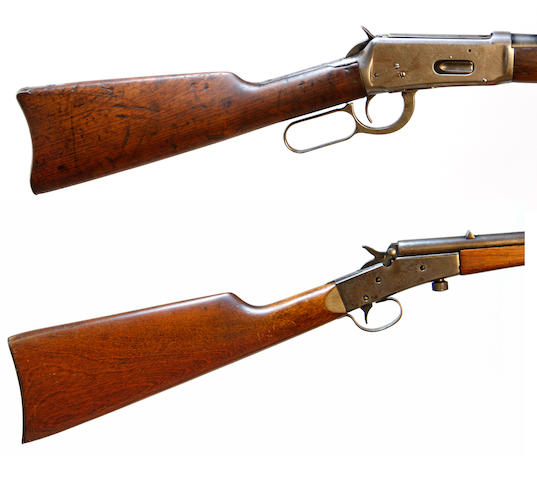 A Winchester Model 1894 lever action rifle