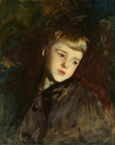 John Singer Sargent (American, 1856-1925) Gordon Fairchild 21 1/4 x 17 1/4in (Painted in 1887.)
