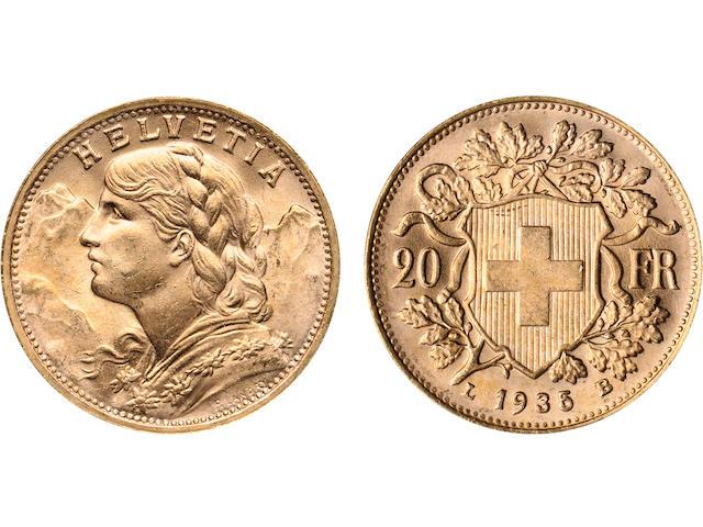 Switzerland, Gold 20 Francs (80)