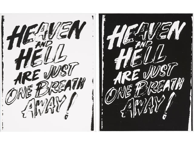 ANDY WARHOL (1928-1987) Heaven and Hell Are Just One Breath Away (Positive and Negative), 1985