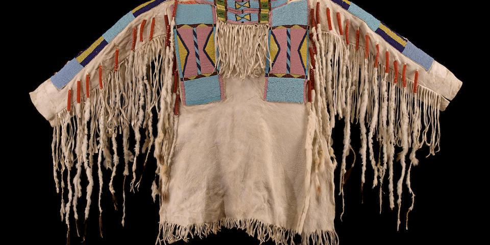 A Nez Perce beaded shirt