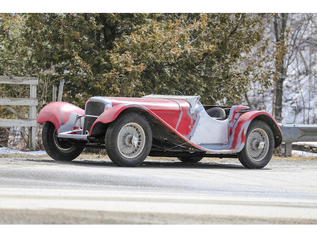 <b>1938 Jaguar SS100 2½ Liter Roadster  </b><br />Chassis no. 49049 <br />Engine no. T 9528 (see text)