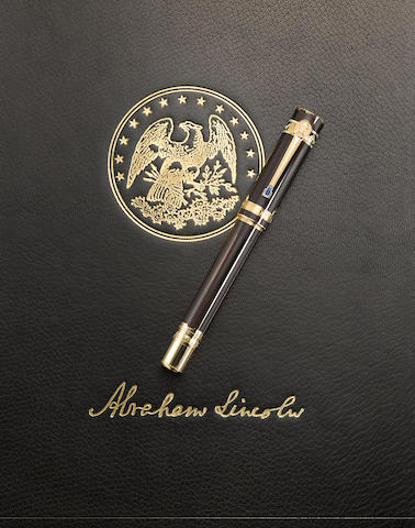 MONTBLANC: Abraham Lincoln America's Signatures for Freedom Series Limited Edition 50 Fountain Pen