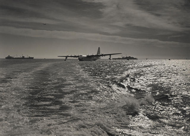 AVIATION—HOWARD HUGHES AIRCRAFT COMPANY. BRENKUS, CHUCK, photographer. An archive of approximately 317 photographs, the majority related to Hughes Aircraft Company, 3 1/2 x 4 1/2 to 15 1/4 x 20 inches (most 8 1/2 x 11 in),