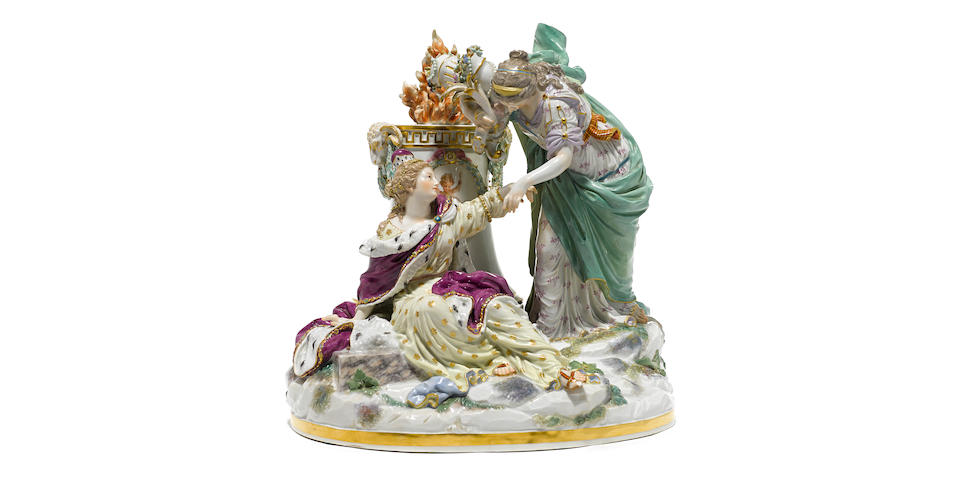 A Meissen porcelain figural group: The Peace late 19th century