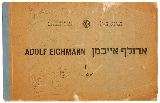 EICHMANN TRIAL. Adolf Eichmann. [Jerusalem]: Police d'Israel, [1961].