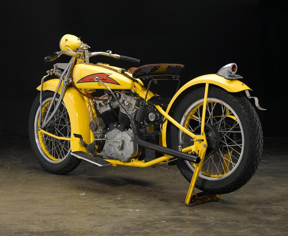 Gwen Banquer recreation,1929 Indian-Crocker 45CI Overhead-Valve Conversion