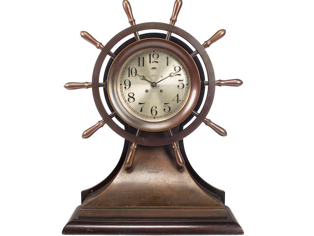 "A 8-1/2 inch ""Mariner"" clock for the yacht Sumar circa 1926 25 x 20 x 8-1/2 in. (63.5 x 50.8 x 21.5 cm.), height x width x depth."