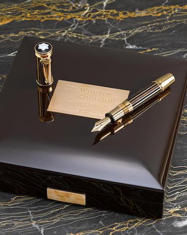 MONTBLANC: Sir Winston Churchill 18K Gold Atelier Privés Limited Edition 53 Fountain Pen