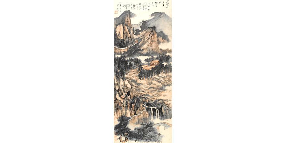 Zhang Daqian (1899-1983) Mountain Retreat Among Clouds and Streams, 1972