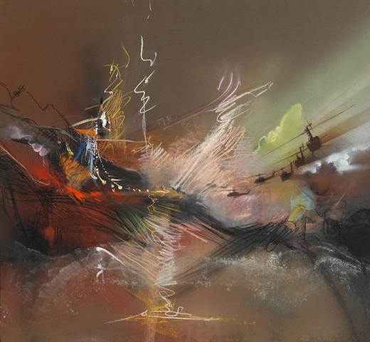A Bob Peak preliminary painting for Apocalypse Now