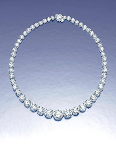 An important diamond rivière necklace