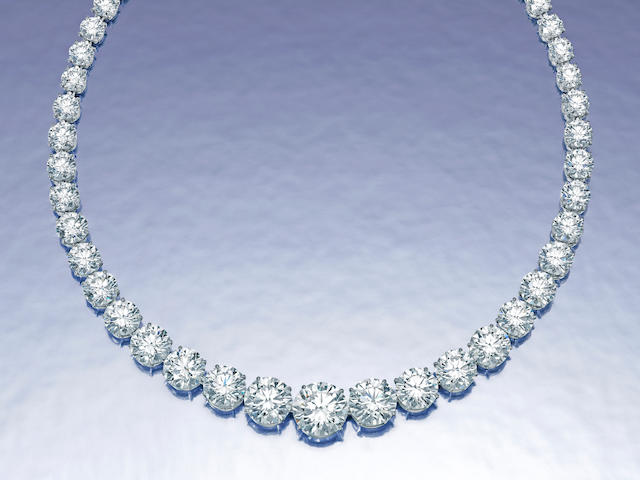 An important diamond rivière necklace