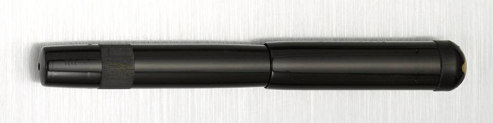 MONTBLANC: No. 6 Black Hard Rubber Safety Fountain Pen, Simplo Nib, c.1925