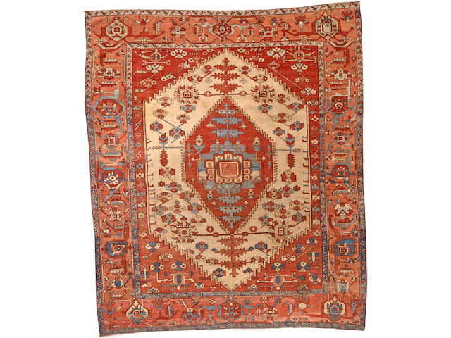 A Serapi carpet Northwest Persia size approximately 9ft. 4in. x 11ft.
