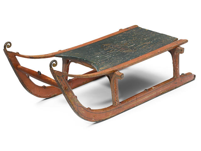 "Screenwriter Herman Mankiewicz's ""Rosebud"" sled, gifted to him at the conclusion of principal photography for Citizen Kane"
