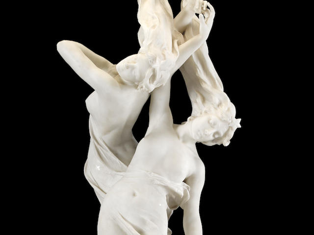 A highly important Italian carved marble figural group: Shooting Stars Vittorio Caradossi (Italian, 1861-1918) late 19th century