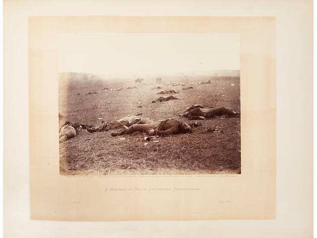CIVIL WAR. GARDNER, ALEXANDER. 1821-1882. Gardner's Photographic Sketch Book of the War.  Washington: Philip & Solomons, [1865-1866].