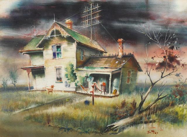 Nicholas Britsky (American, 1914-2005) House in Camargo, Illinois 22 1/2 x 31in