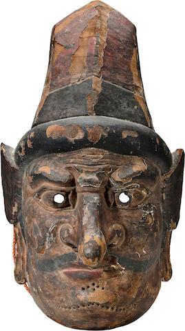 A large bugaku mask of Suiko-O Nara period (8th century)