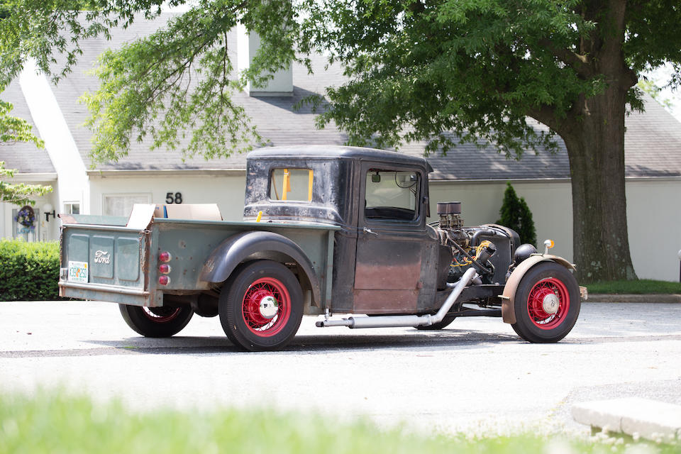 <i>Built in 1957 by Alexis du Pont</i><BR /><B>1934 Ford Hot Rod Pick Up</B><BR />Chassis no. 1059801