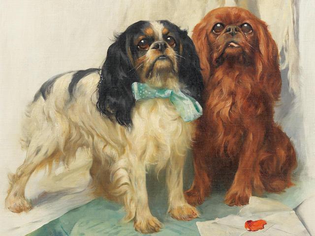 Arthur Wardle, RI (British, 1864-1949) Pen friends 22 1/4 x 14 3/16in (56.5 x 36cm)