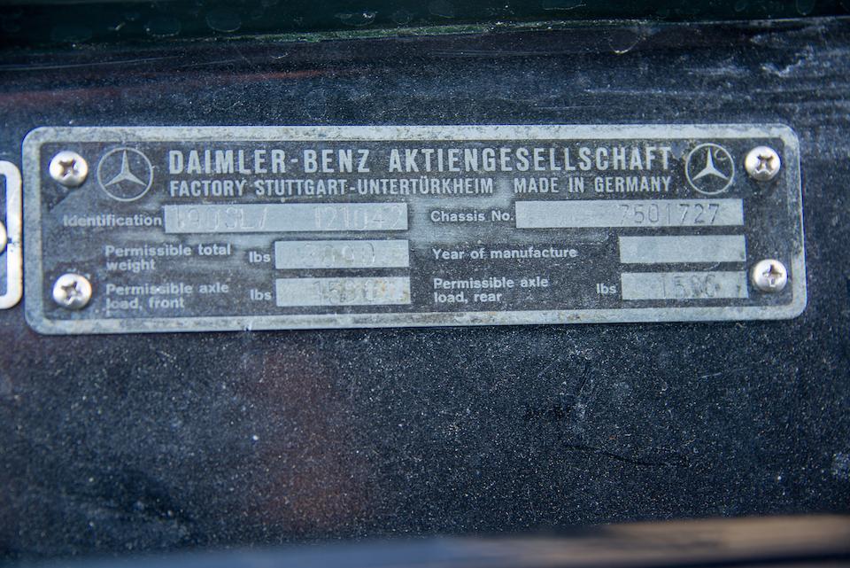 1957 MERCEDES-BENZ 190SL  Chassis no. 121040.7501727 Engine no. 121921.7501762