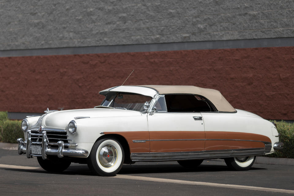 Ex-Steve McQueen,1950 HUDSON CUSTOM COMMODORE SIX CONVERTIBLE  Chassis no. 50278280