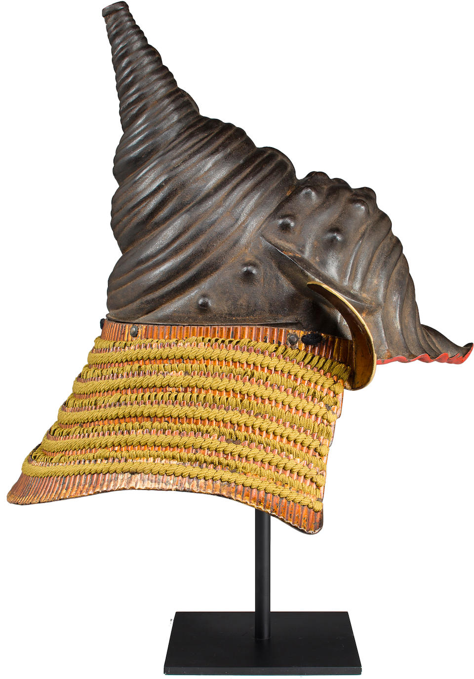 A shell-shaped kawari kabuto (eccentrically shaped helmet) By Mitsuhisa, Edo period (18th century)