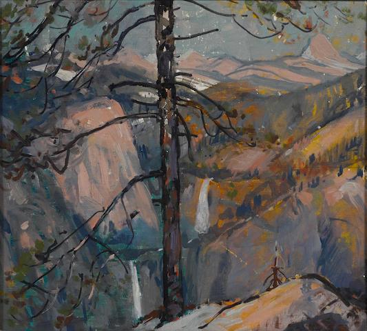 Alfred R. Mitchell (American, 1888-1972) Little Yosemite 11 x 12in
