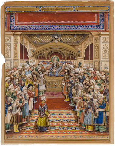 The darbar of Akbar Shah II Delhi, mid-to-late 19th century