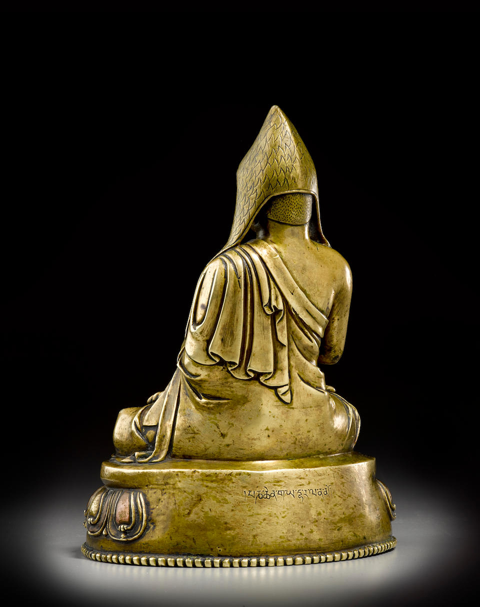 A silver and copper inlaid copper alloy figure of Gayadhara Tibet, circa 15th century