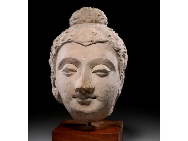 A stucco head of Buddha Ancient region of Gandhara, 4th/5th century