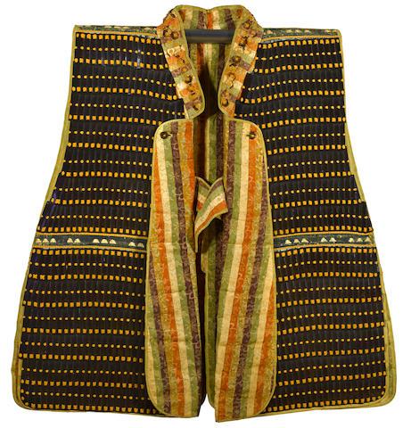 A kisenaga jinbaori (campaign coat) of lamellae  Edo period (17th century)