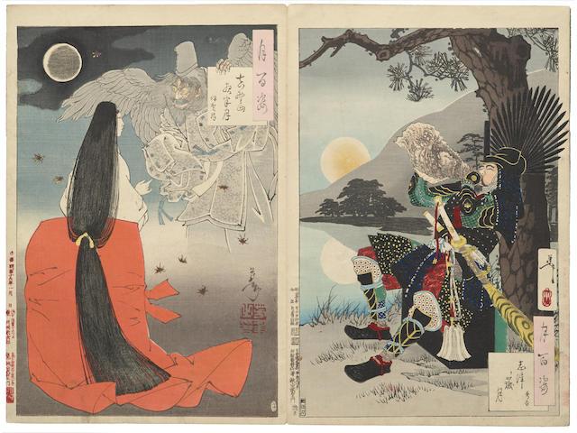 Tsukioka Yoshitoshi (1839-1892) Album of 104 woodblock prints