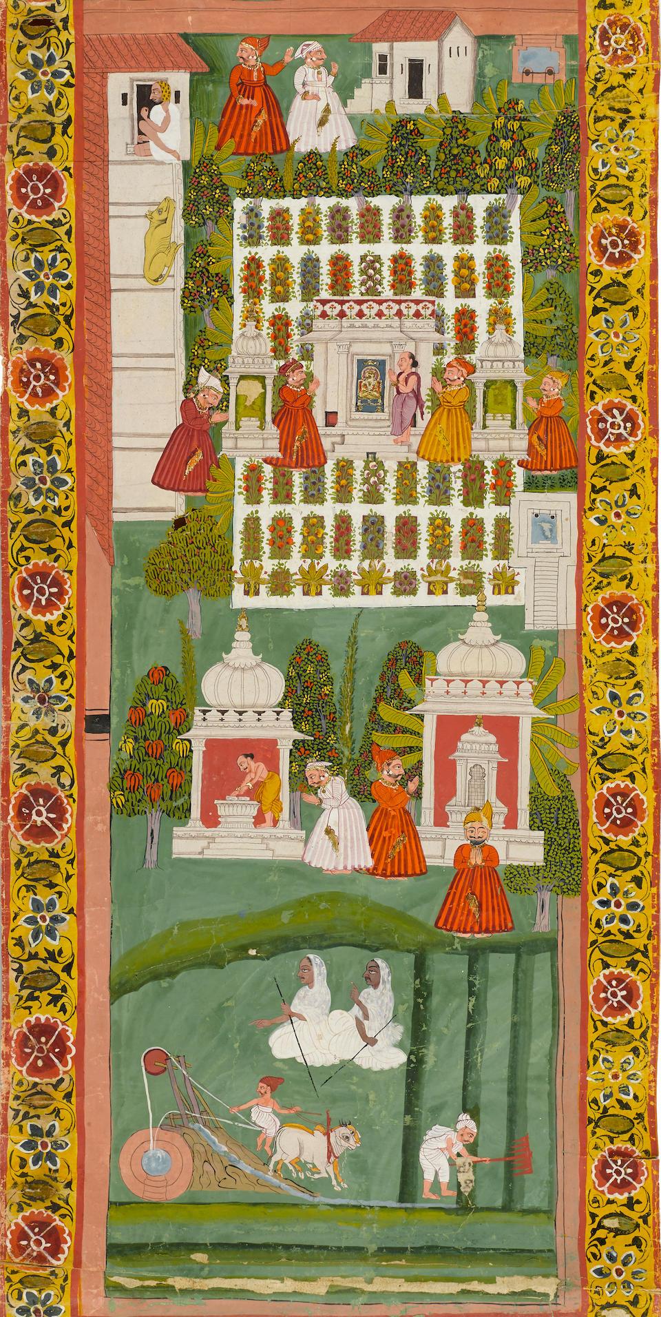 A Jain invitation scroll (Vijnaptipatra) Udaipur, circa 1800