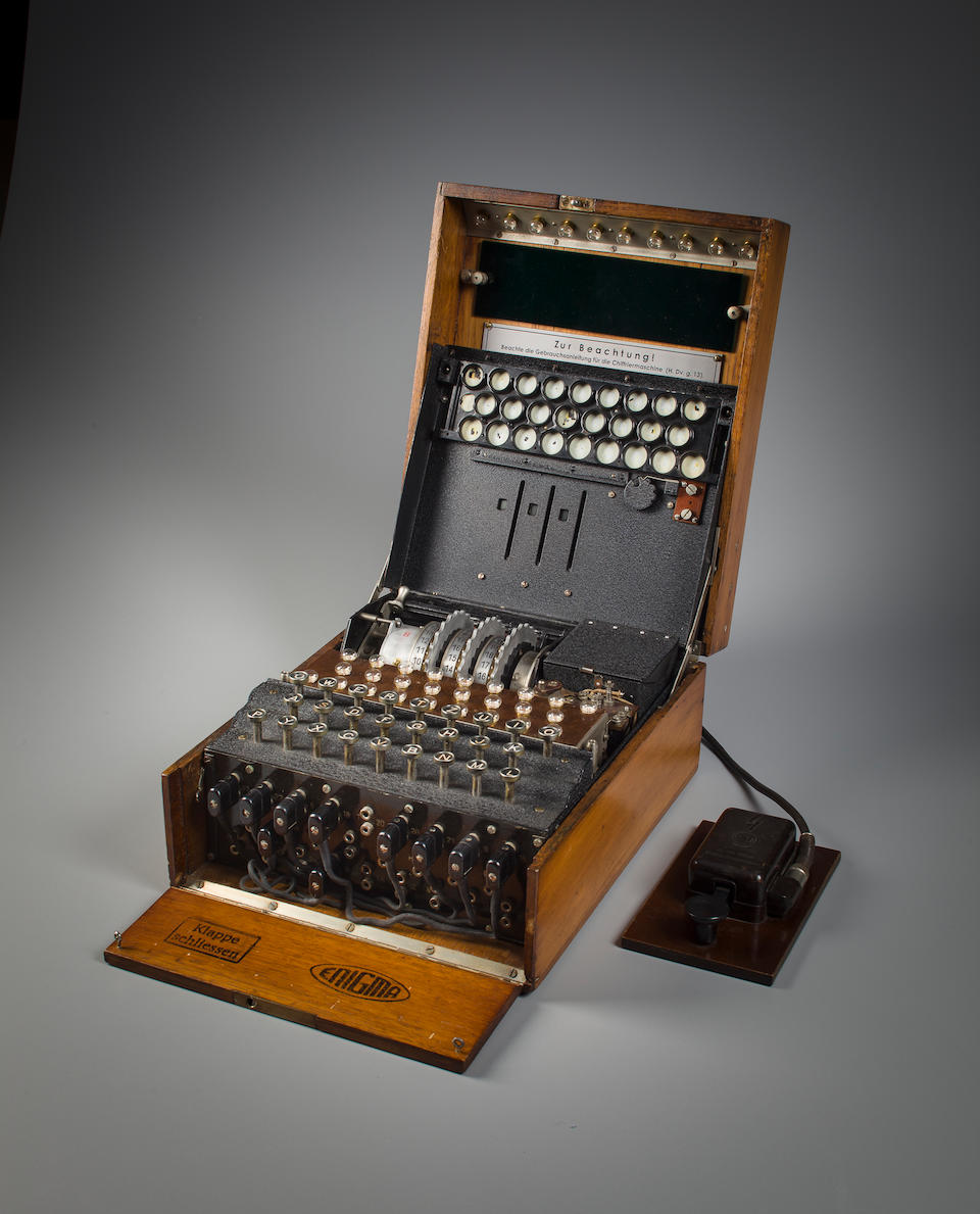 ENIGMA MACHINE. A Rare Early 3-Rotor German Enigma I Enciphering Machines (aka Heeres Enigma), Berlin, early 1930s.
