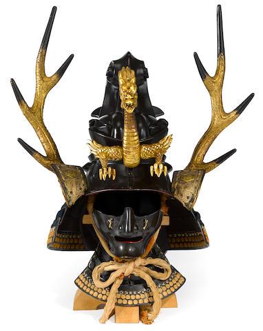 A kawari kabuto (eccentrically shaped helmet) Edo period (18th century)
