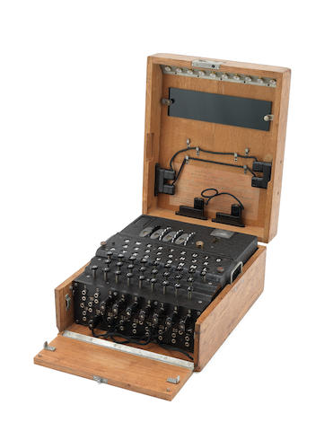 A German Naval 4-rotor Enigma enciphering machine (M4), for U-Boat use, circa 1942-44.